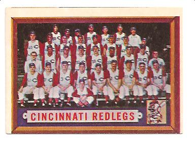 1957 Topps #322 Cincinnati Reds TC