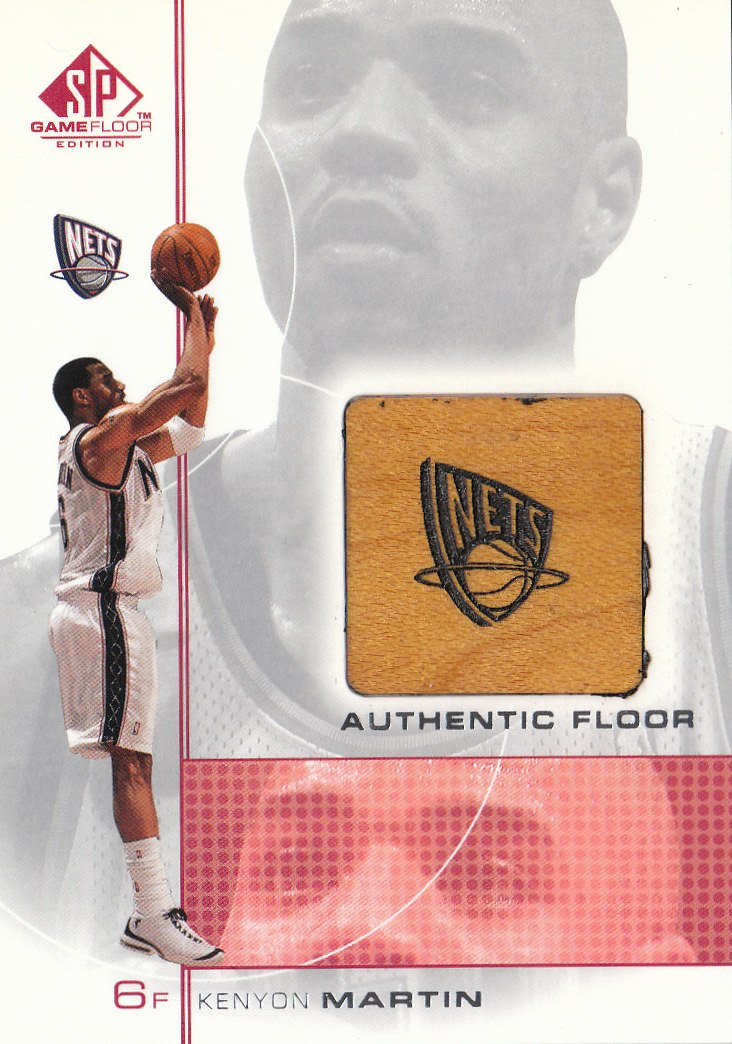 2000-01 SP Game Floor Authentic Floor #KM Kenyon Martin