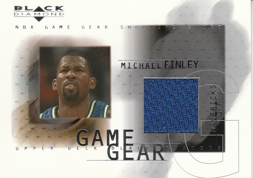 2000-01 Black Diamond Game Gear #MF Michael Finley