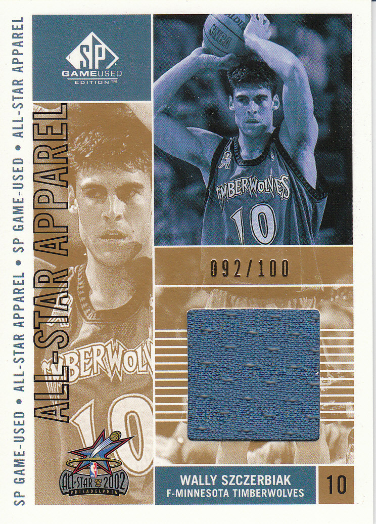 2002-03 SP Game Used All-Star Apparel Gold #WSAS Wally Szczerbiak