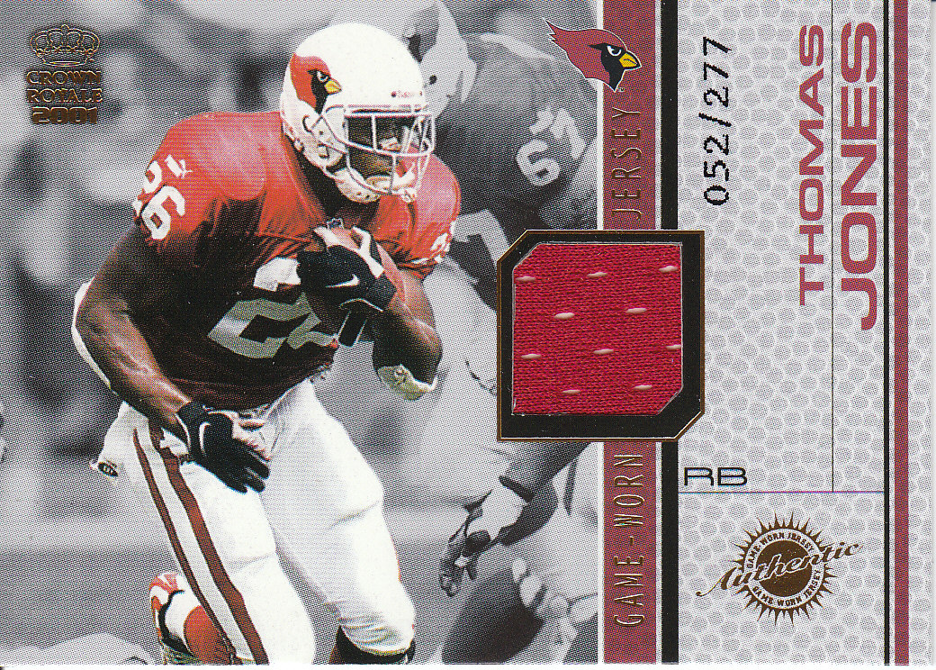 2001 Crown Royale Game Worn Jerseys #1 Thomas Jones/277
