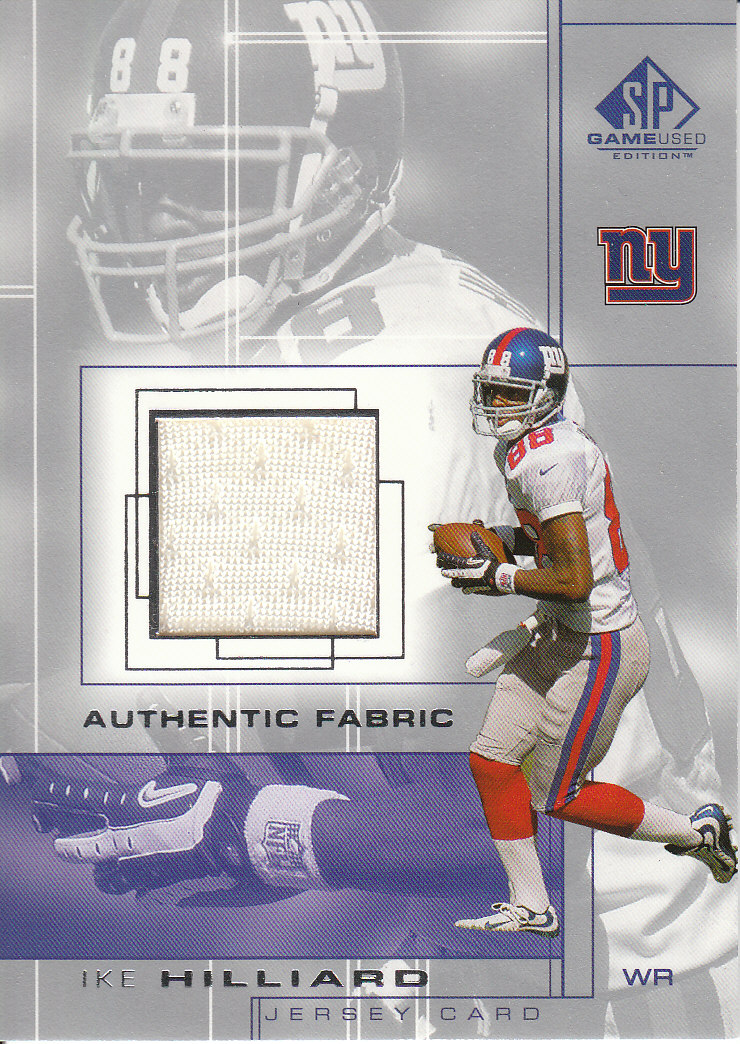 2001 SP Game Used Edition Authentic Fabric #IH Ike Hilliard