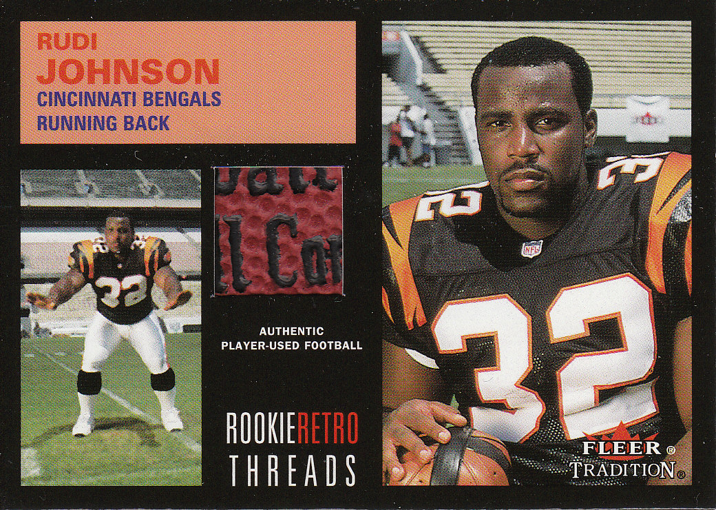 2001 Fleer Tradition Rookie Retro Threads #51 Rudi Johnson FB/Chad Johnson FB