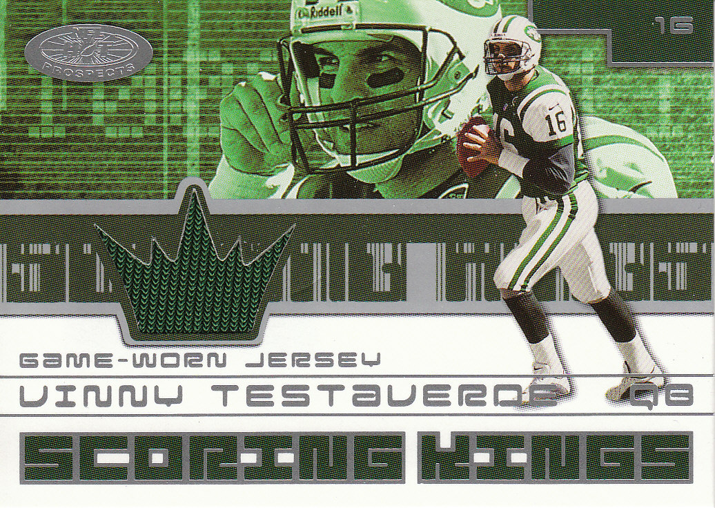 2001 Hot Prospects Scoring King Jerseys #45 Vinny Testaverde