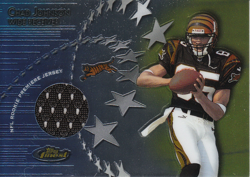 2001 Finest Rookie Premiere Jerseys #RPJCJ Chad Johnson B