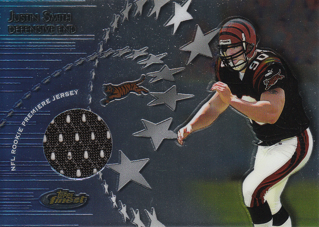 2001 Finest Rookie Premiere Jerseys #RPJJS Justin Smith A