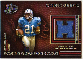 2003 Playoff Hogg Heaven #217 Artose Pinner JSY RC