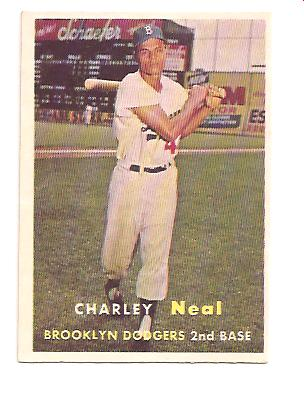 1957 Topps #242 Charlie Neal