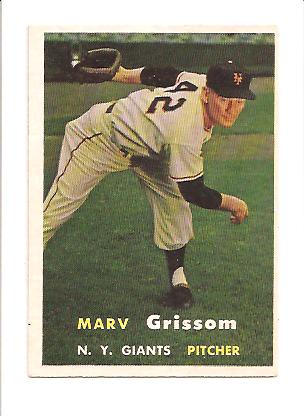 1957 Topps #216 Marv Grissom
