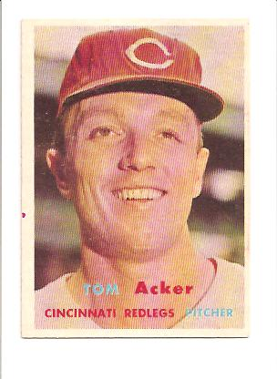 1957 Topps #219 Tom Acker RC