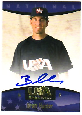 2008 USA Baseball National Team On-Card Signatures #68 Brett Hunter