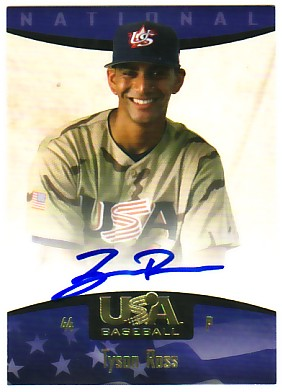 2008 USA Baseball National Team On-Card Signatures #77 Tyson Ross