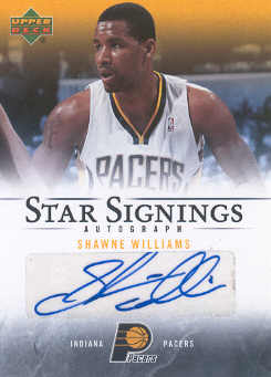 2007-08 Upper Deck Star Signings #SW Shawne Williams front image