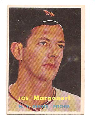 1957 Topps #191 Joe Margoneri RC