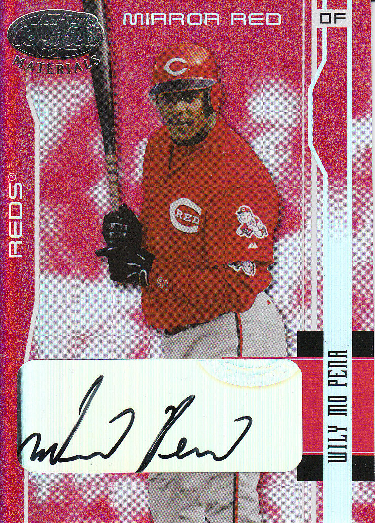 2003 Leaf Certified Materials Mirror Red Autographs #49 Wily Mo Pena/100