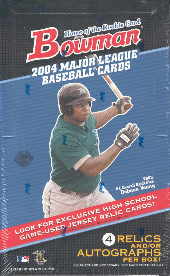 2004 Bowman MLB Baseball Sports Trading Cards HTA JUMBO Box