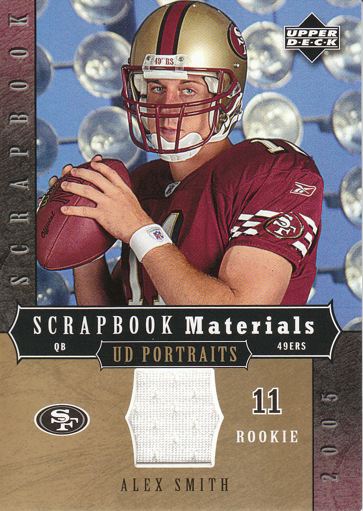 2005 UD Portraits Scrapbook Materials #SBAS Alex Smith QB
