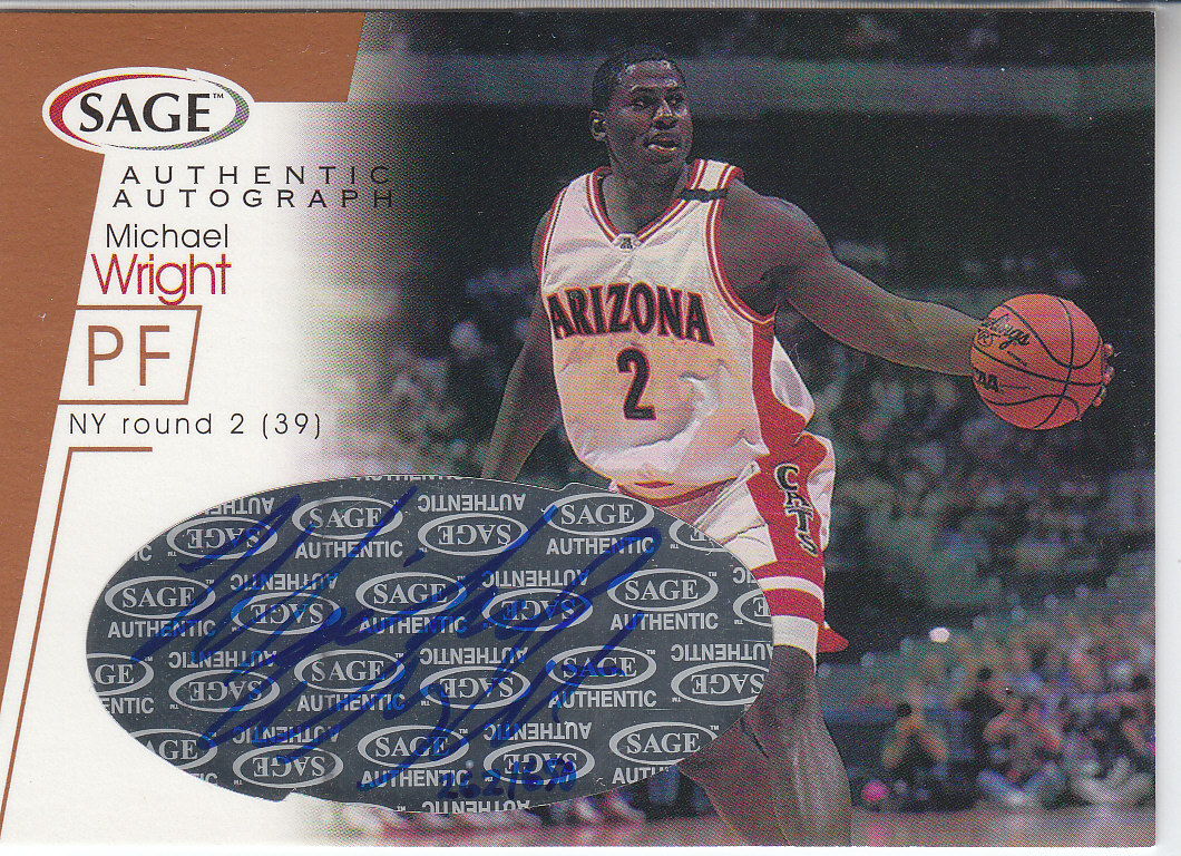 2001 SAGE Autographs Bronze #A36 Michael Wright/650