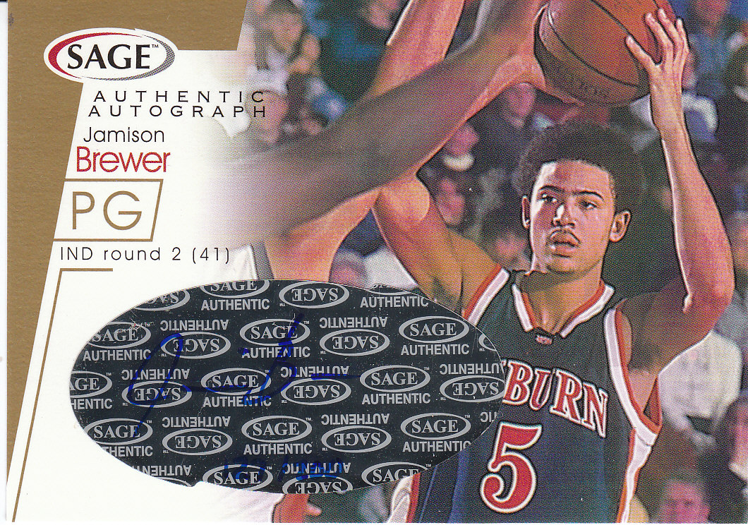 2001 SAGE Autographs Gold #A6 Jamison Brewer/200