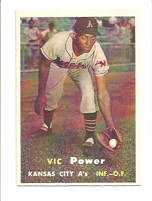 1957 Topps #167 Vic Power EXMT Actual scan