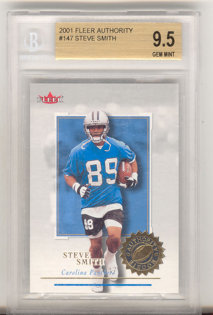 2001 Fleer Authority #147 Steve Smith RC