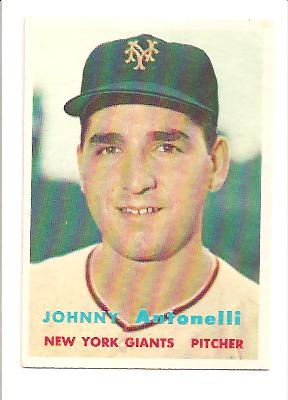 1957 Topps #105 Johnny Antonelli