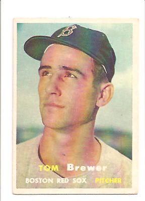1957 Topps #112 Tom Brewer
