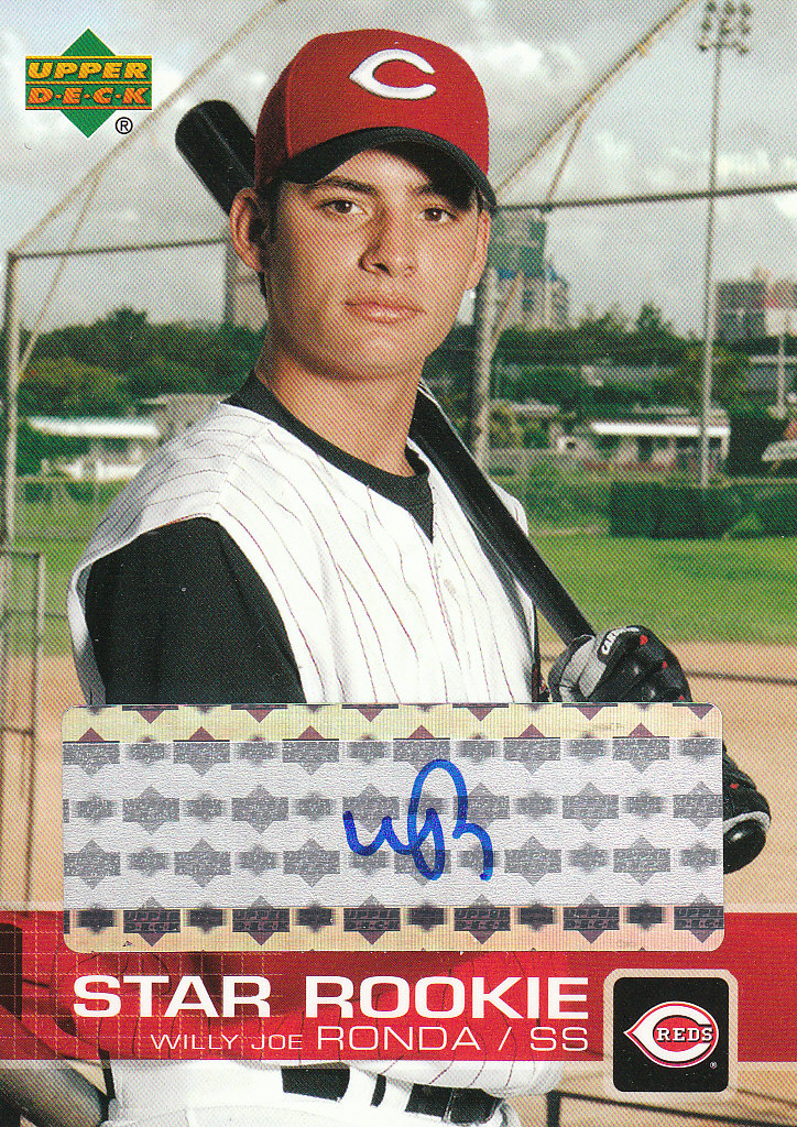 2003 Upper Deck Prospect Premieres Autographs #P63 Willy Jo Ronda