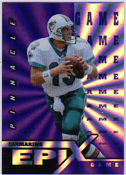 1997 Pinnacle Certified Epix Purple #E17 D.Marino GAME