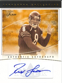 2004 Flair Autograph Collection Masterpiece #ACRG Rex Grossman