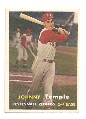 1957 Topps #9 Johnny Temple