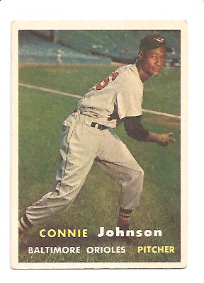 1957 Topps #43 Connie Johnson