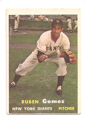 1957 Topps #58 Ruben Gomez