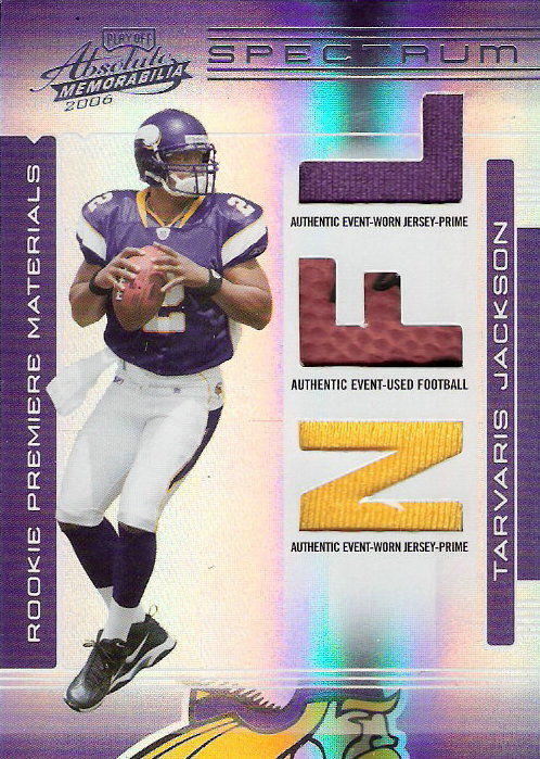 2006 Absolute Memorabilia Rookie Premiere Materials Spectrum Prime #253 Tarvaris Jackson