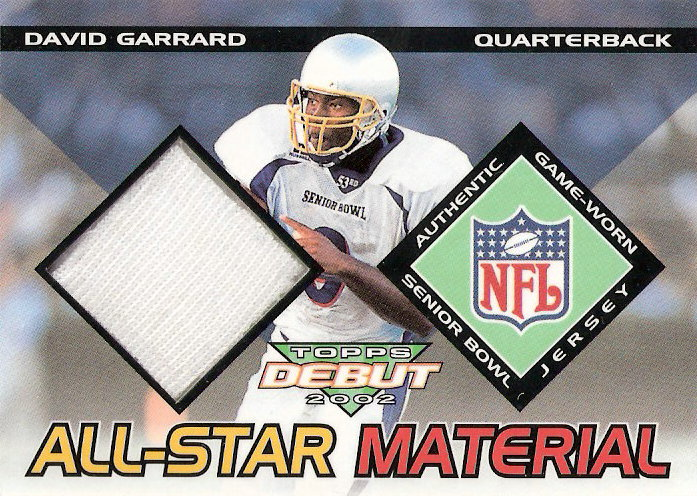 2002 Topps Debut All-Star Materials #AMDG David Garrard