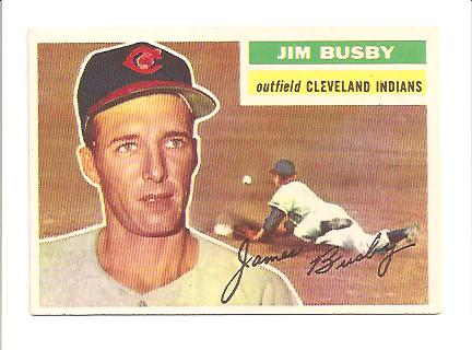 1956 Topps #330 James Busby EXMT Actual scan