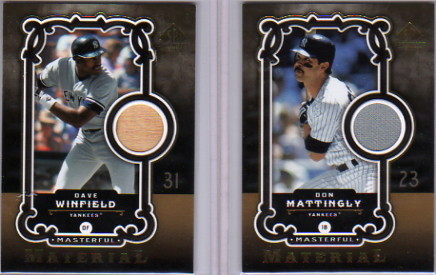 2007 SP Legendary Cuts Masterful Materials #DM Don Mattingly