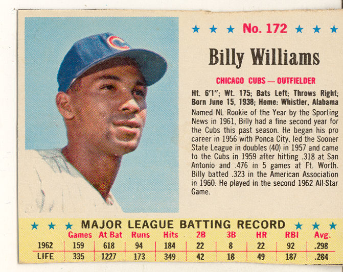 1963 Post #172 Billy Williams