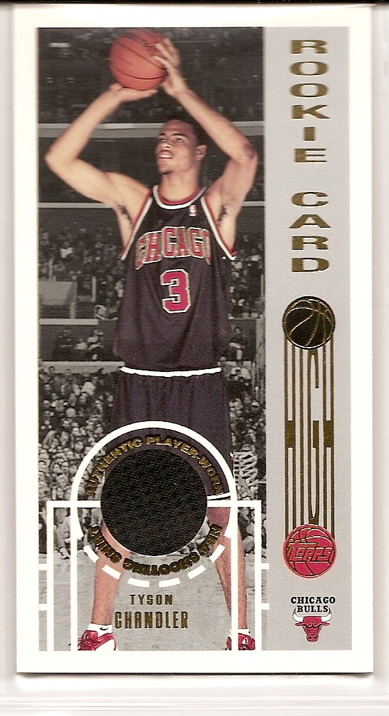 2001-02 Topps High Topps #146 Tyson Chandler JSY RC