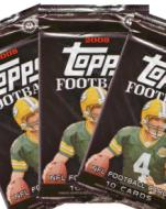 3 PACK LOT : 2008 Topps Football Factory Sealed Hobby Pack (Possible Rookies :Chris Johnson, Joe Flacco, McFadden, Matt Ryan, Mendenhall, James Harrison & more) 