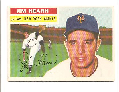 1956 Topps #202 Jim Hearn