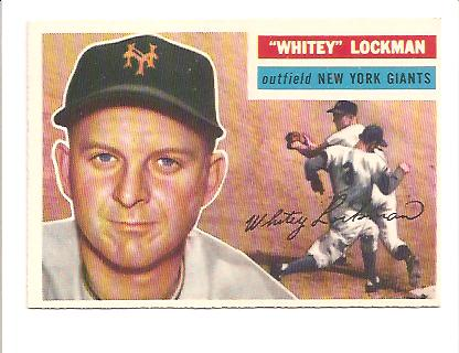 1956 Topps #205 Whitey Lockman