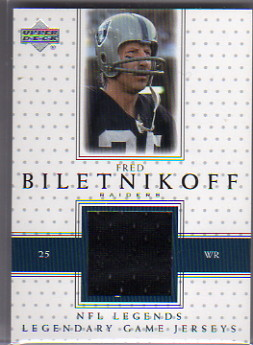 2000 Upper Deck Legends Legendary Jerseys #LJFB Fred Biletnikoff