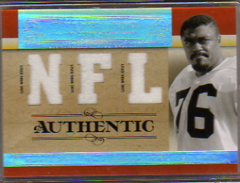 2007 Playoff National Treasures Timeline Material NFL #RG Rosey Grier