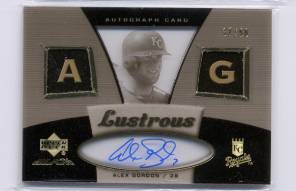 2007 UD Black Lustrous Autographs #AG Alex Gordon