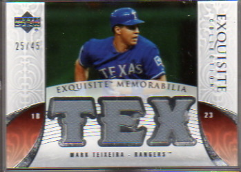 2006 Exquisite Collection Memorabilia #MT Mark Teixeira