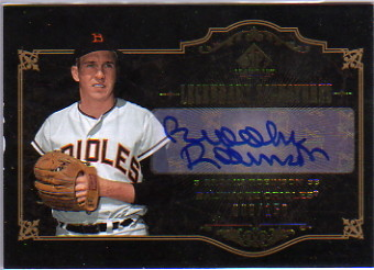 2007 SP Legendary Cuts Legendary Signatures #BR1 Brooks Robinson/150