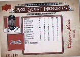 2008 UD A Piece of History Box Score Memories Red #BSM3 Chipper Jones