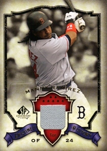 2008 SP Legendary Cuts Destined for History Memorabilia #MR Manny Ramirez