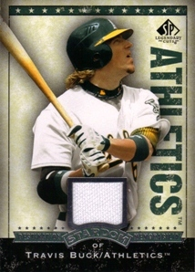 2008 SP Legendary Cuts Destination Stardom Memorabilia #TB Travis Buck
